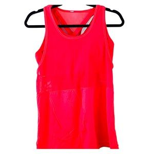 Lululemon mesh / luxtreme tank with built in bra